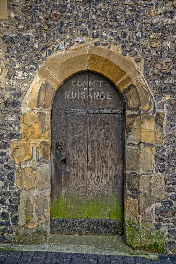 St Albans Commit No Nuisance Door