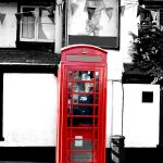 St Albans the boot red telephone box