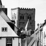 St Albans cathedral from market place