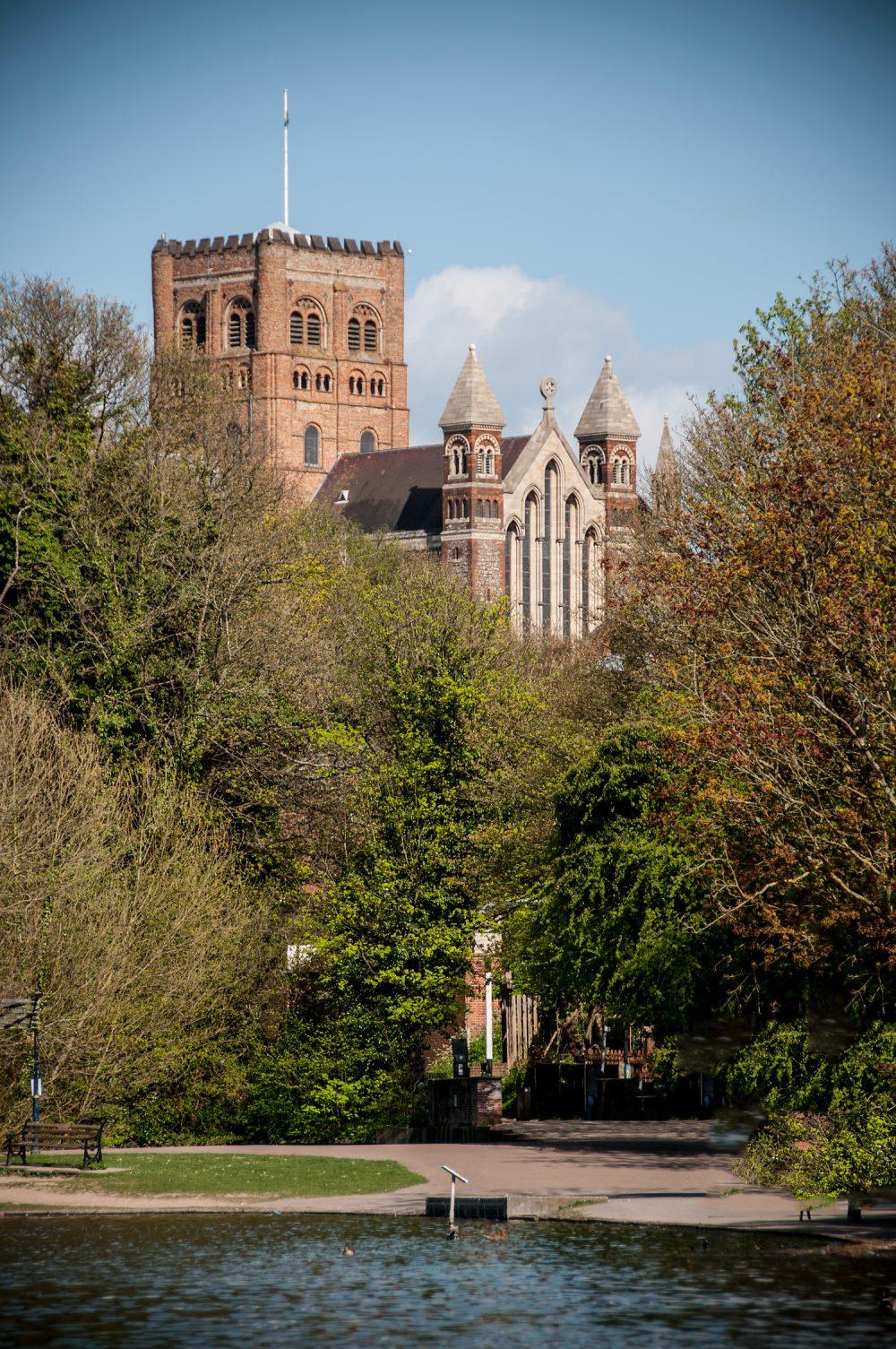 St Albans Cathedral Verulamium Lake