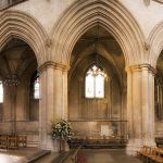 inside St Albans cathedral