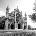 St Albans cathedral black and white