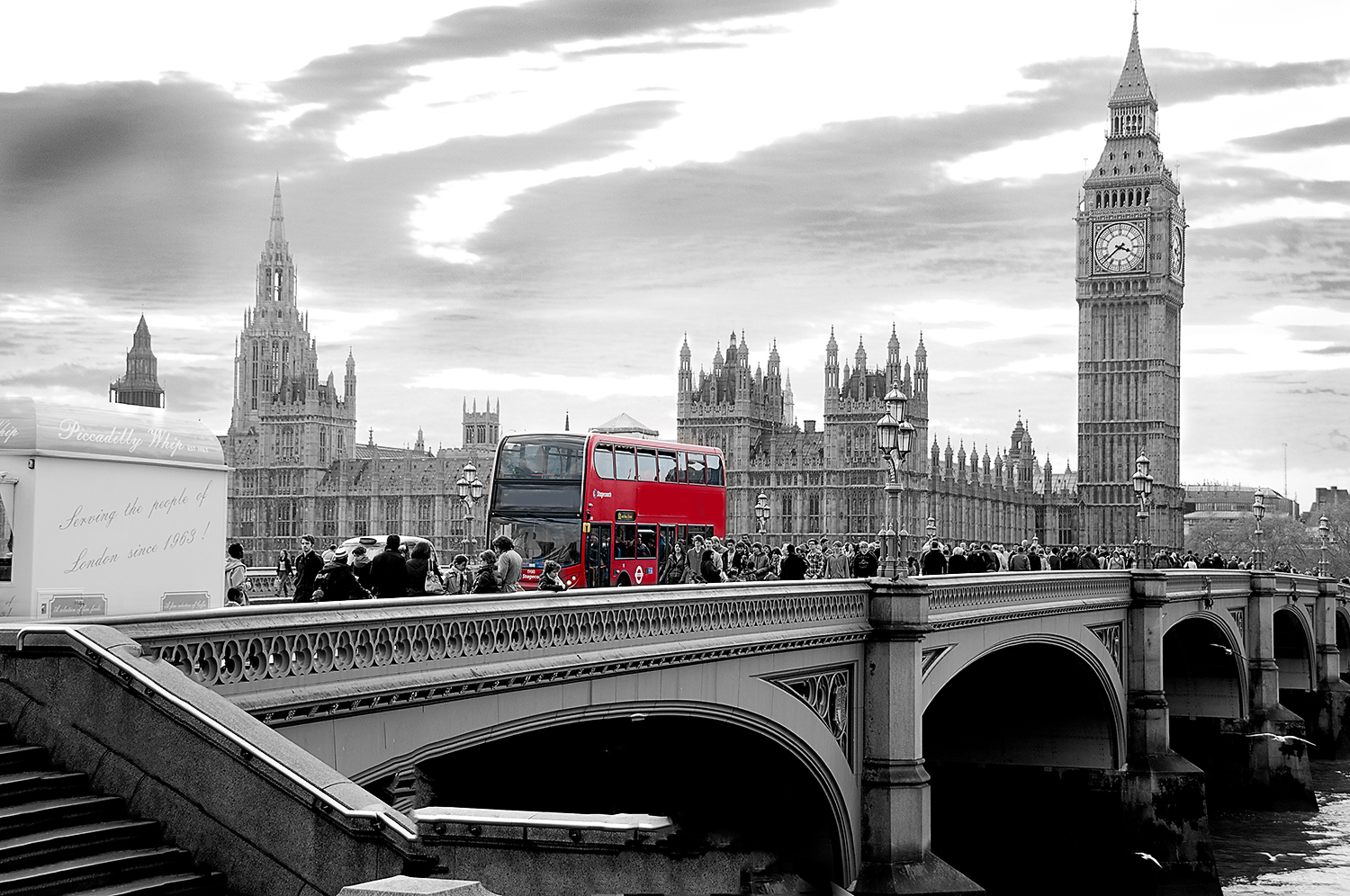 Big Ben Red London Bus