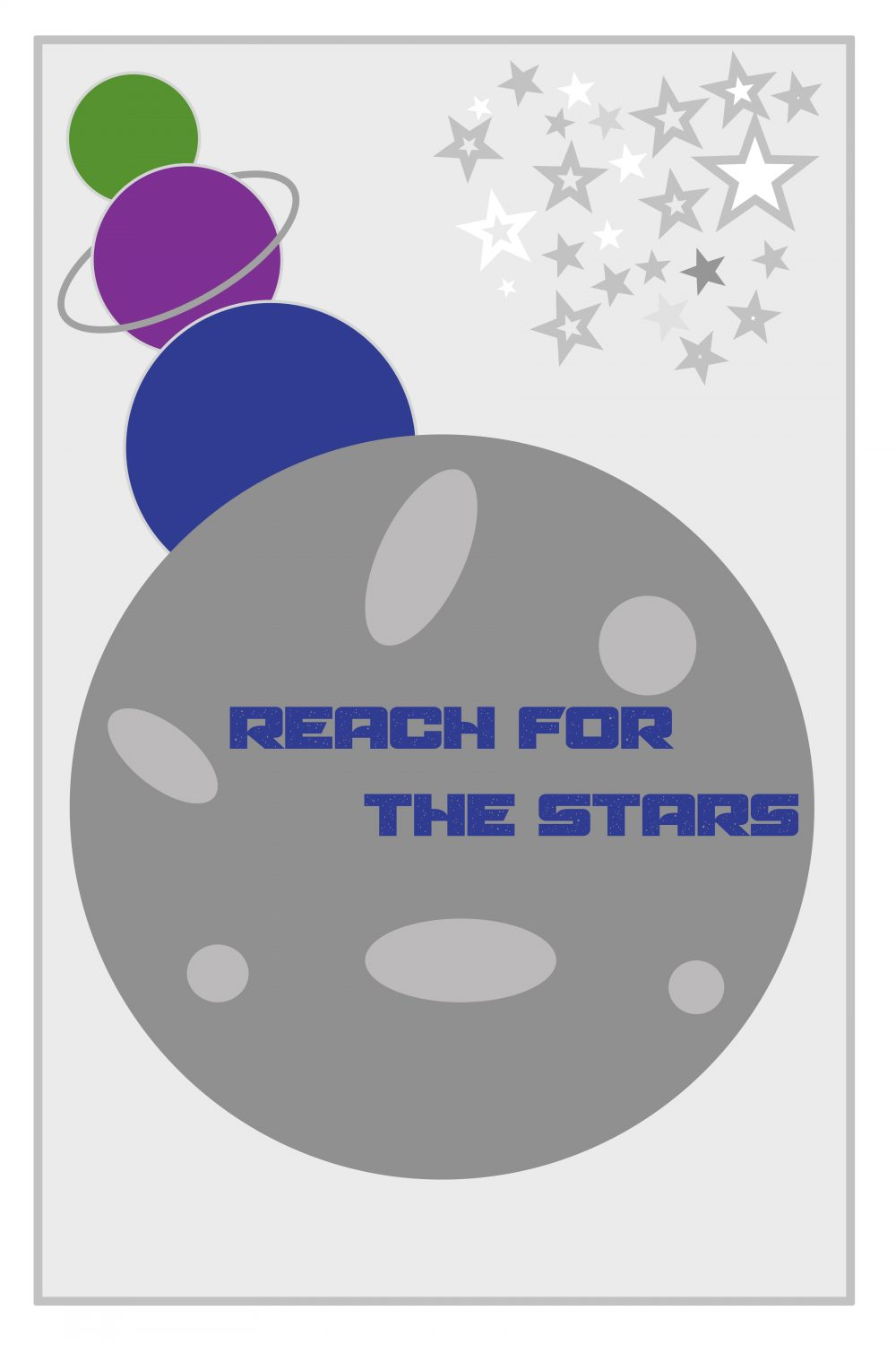 Reach for the Stars kids art