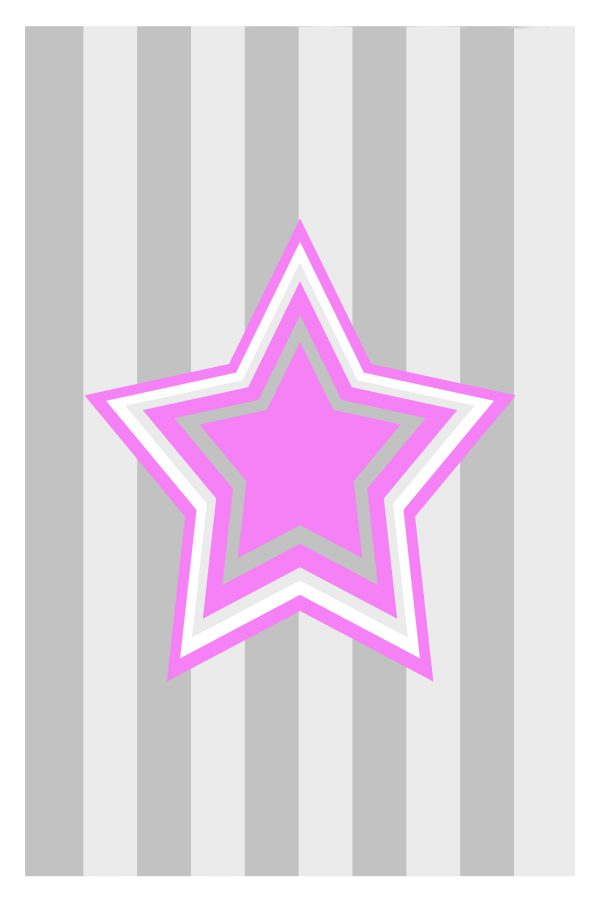 Pink Star kids art