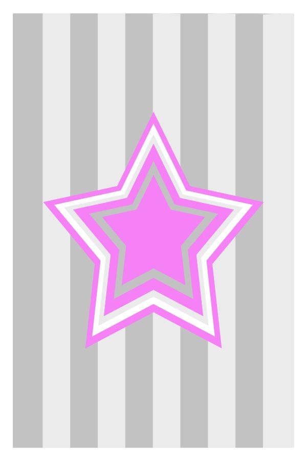 Pink Star kids art