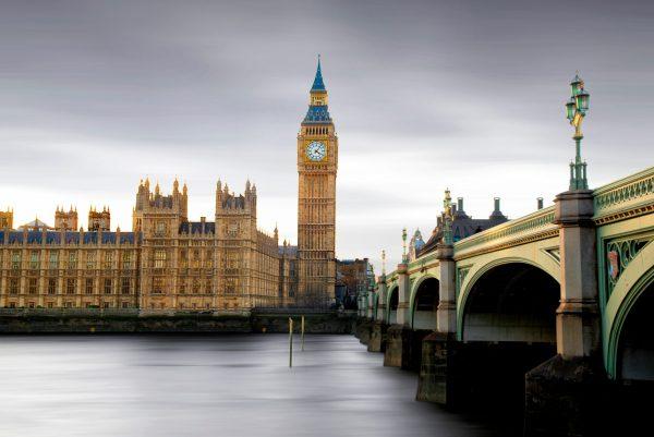 Parliament long exposure
