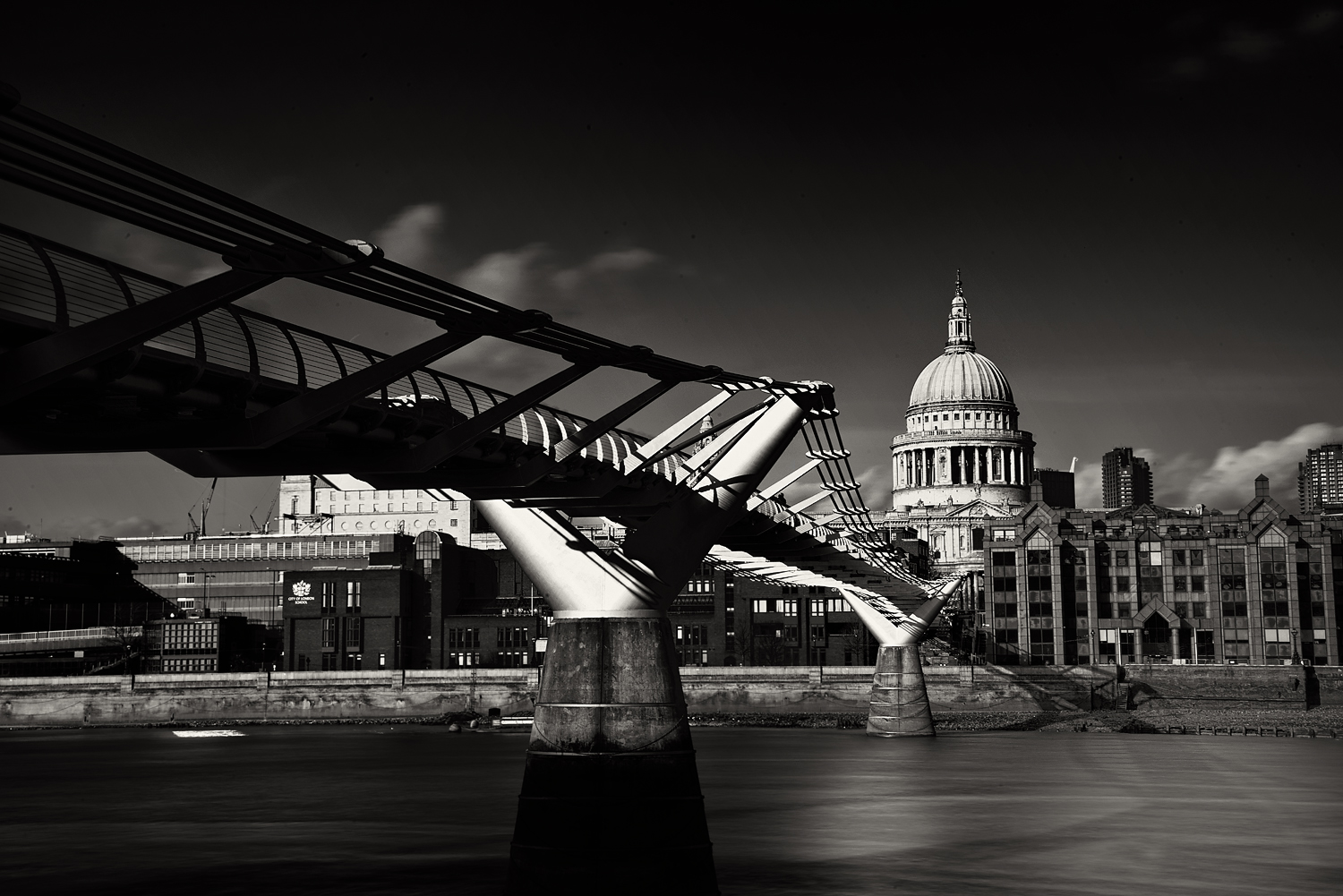 St Pauls Cathedral and the Millennium Bridge