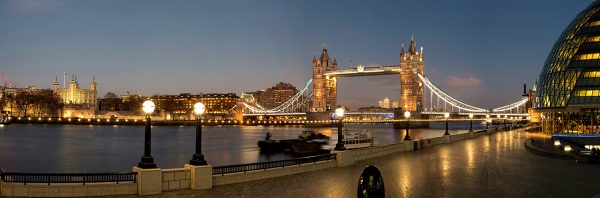 Panoramic of Tower Bridge